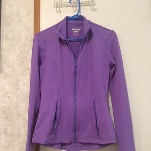 Kirkland light purple zip up Jacket . Size Medium